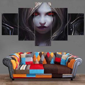 Décoration Murale Warcraft Elfe de la Nuit Chasseresse