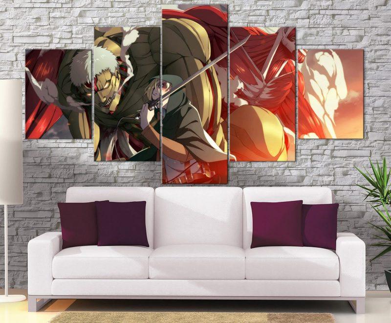 Décoration Murale L'attaque des Titans Annie X Armored Titan