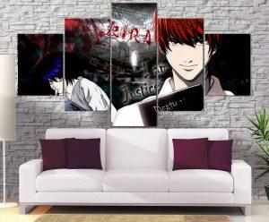 Décoration Murale Death Note Kira Vs L