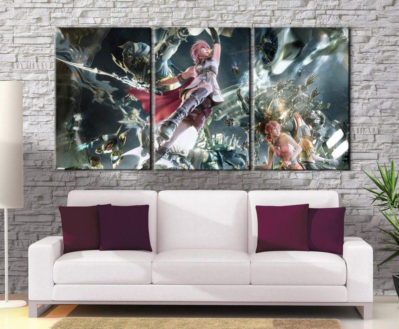 Décoration murale Final Fantasy 13 Lightning X Serah