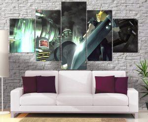 Décoration murale Final Fantasy 7 Cloud Vs Shinrah