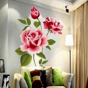 Sticker Mural Fleur Rose