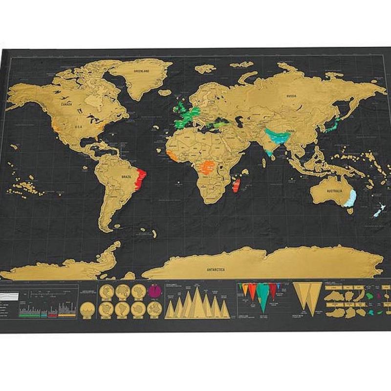 Carte du monde à gratter grand format