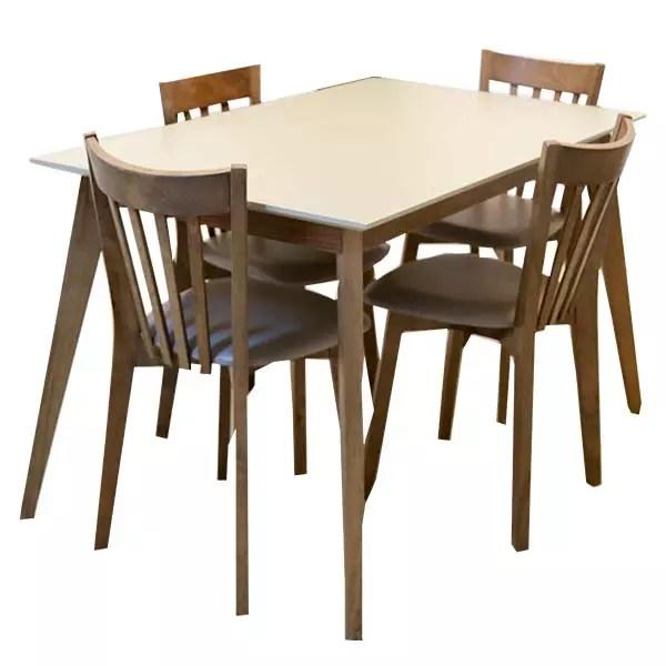 table de cuisine linda avec 4 chaises 120 75 75