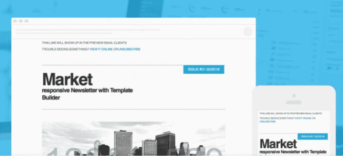 Template newsletter Market