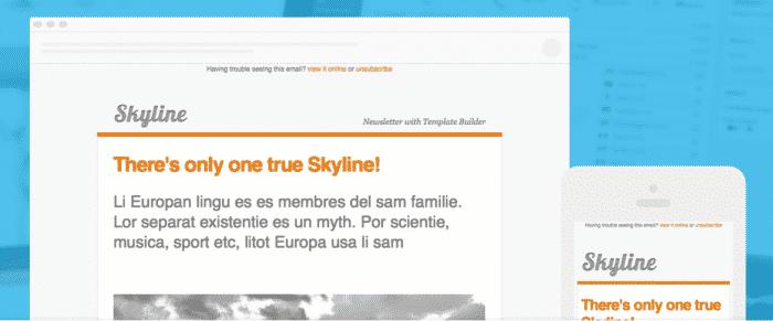 Template newsletter skyline