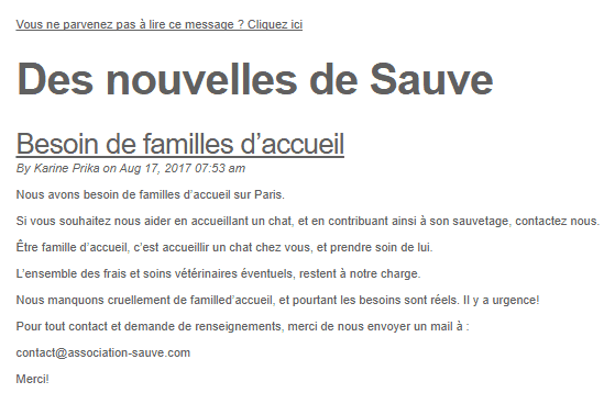 Mail de l'association de Sauve