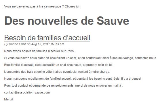 Mail de l'association de Sauve