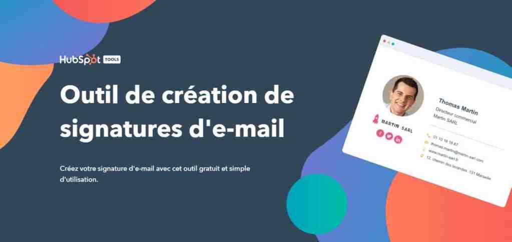 HubSpot Email Signature Generator : Un excellent générateur de signature mail gratuit