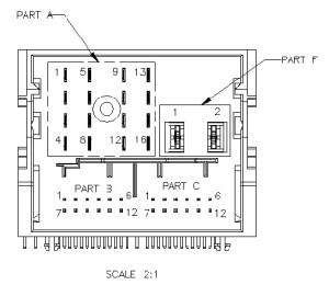 Konektor rádia Ford 6000 CD