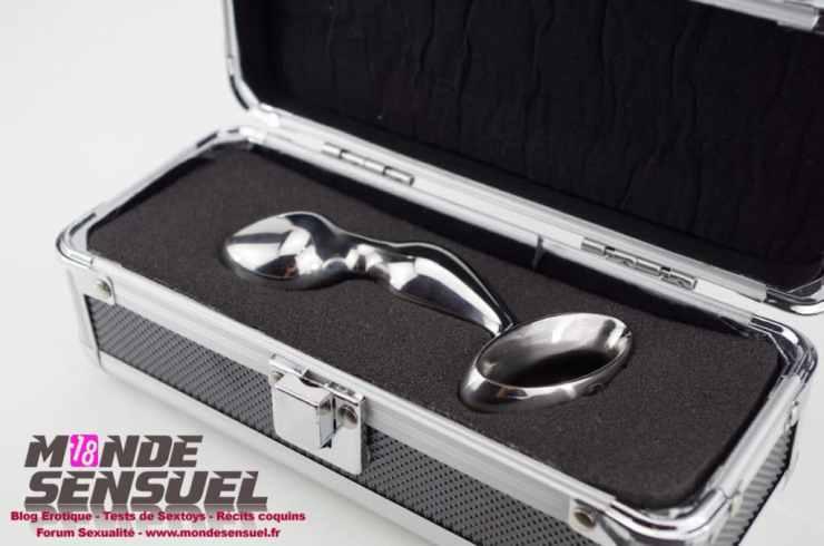 dildo anal metal boite