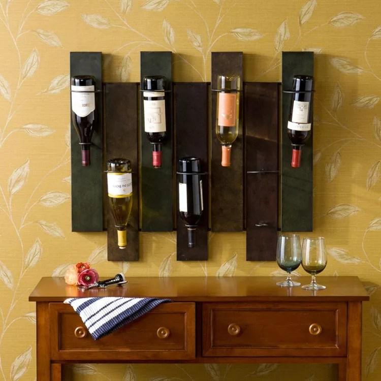 Patrón de soportes para botellas de vino 15 de pared