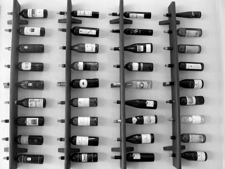 Patrón de soportes para botellas de vino 18 de pared