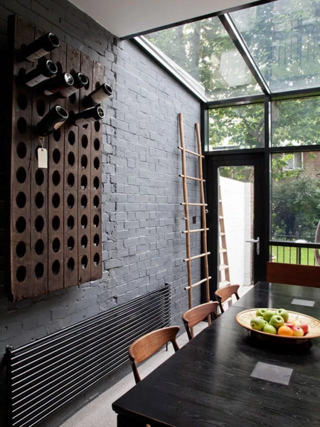 Patrón de soportes para botellas de vino 19 de pared