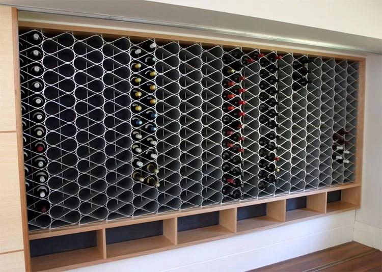 Patrón de soportes para botellas de vino 21 de pared