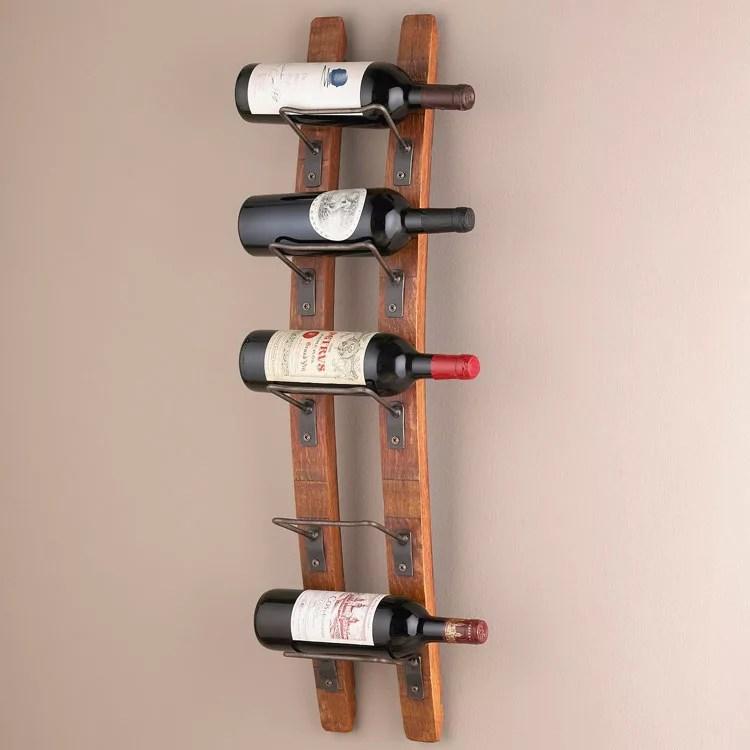Patrón de soportes para botellas de vino 22 de pared
