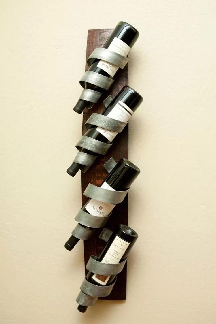 Patrón de soportes para botellas de vino 29 de pared