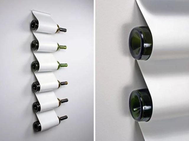 Patrón de soportes para botellas de vino 30 de pared