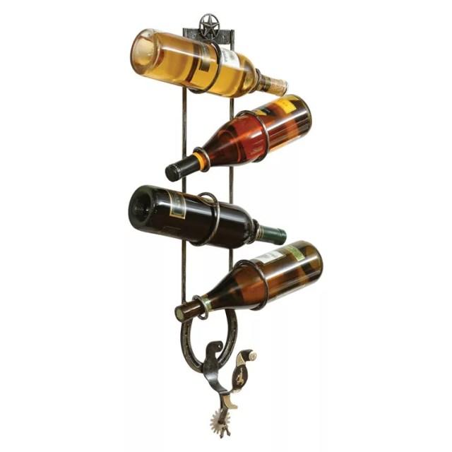 Patrón de soportes para botellas de vino 43 de pared