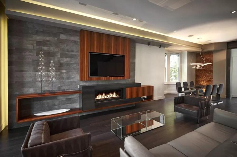parete attrezzata in cartongesso per un soggiorno moderno …. Tv Sopra Il Camino Cosa Sapere Ed Esempi Pratici Mondodesign It