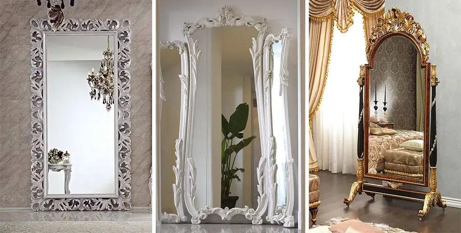 Ampio catalogo di specchi da parete e specchi da terra, con o senza cornice. 20 Modelli Di Specchi Da Terra In Stile Classico Mondodesign It