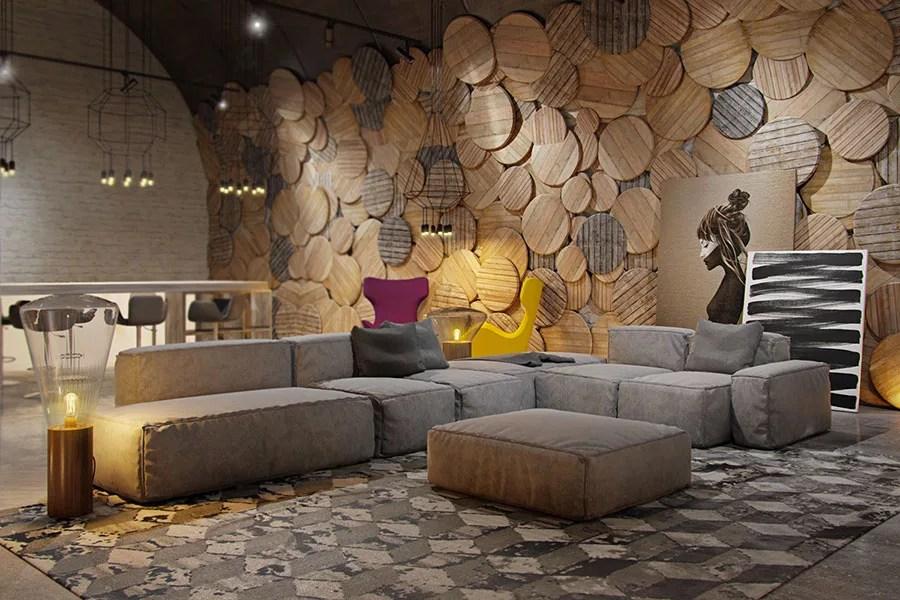 Ecco alcune idee per gli interni moderni, dal soggiorno alla camera da letto,. Rivestimenti Per Pareti Del Soggiorno 40 Idee Di Design Mondodesign It