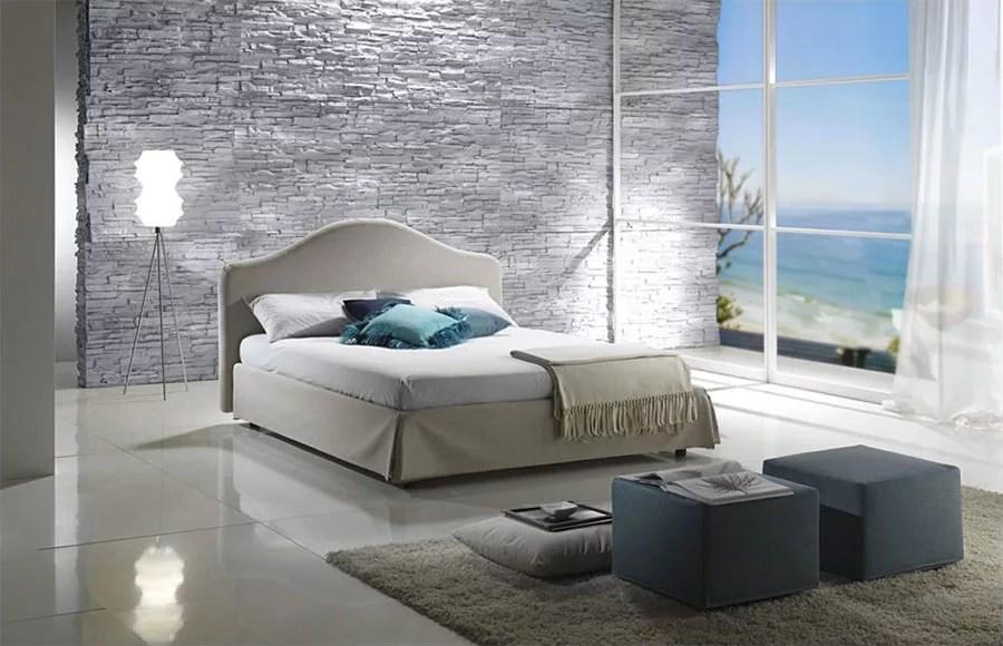 camera da letto con pareti grigie. Pareti In Pietra Per Camere Da Letto Classiche O Moderne Mondodesign It