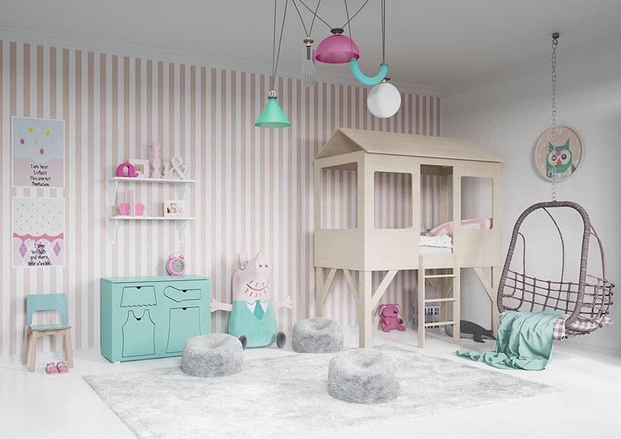 Per arredare le camerette dei bambini si può dare spazio alla fantasia e personalizzarla secondo i gusti del bambino: Come Arredare La Cameretta Di Una Bimba 20 Idee Originali Mondodesign It