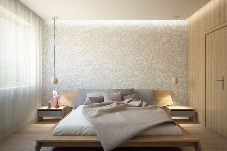 Decorazione parete camera da letto con carta da parati effetto acquerello. Decorazioni Per Pareti Della Camera Da Letto 130 Idee Originali Mondodesign It