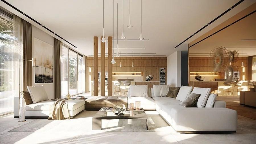 Un arredamento di lusso non è sinonimo di imponenza dei mobili, anzi. Villa Da Sogno Con Interni Di Lusso In Legno E Pietra Mondodesign It