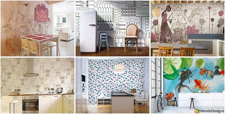 Trova tantissime idee per carta da parati lavabile per cucina. Carta Da Parati Per Cucina 35 Idee Per Pareti Originali Mondodesign It