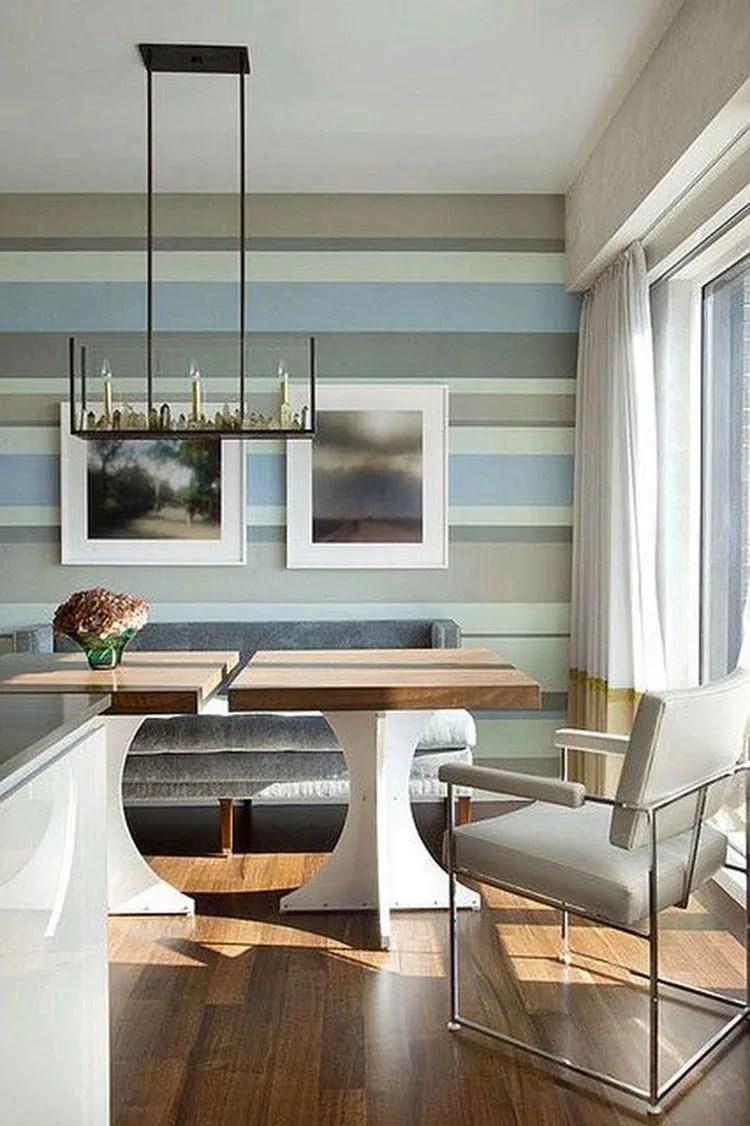 4 pareti a righe in cucina; Pareti A Righe Orizzontali Tante Idee E Modalita Di Pittura Mondodesign It