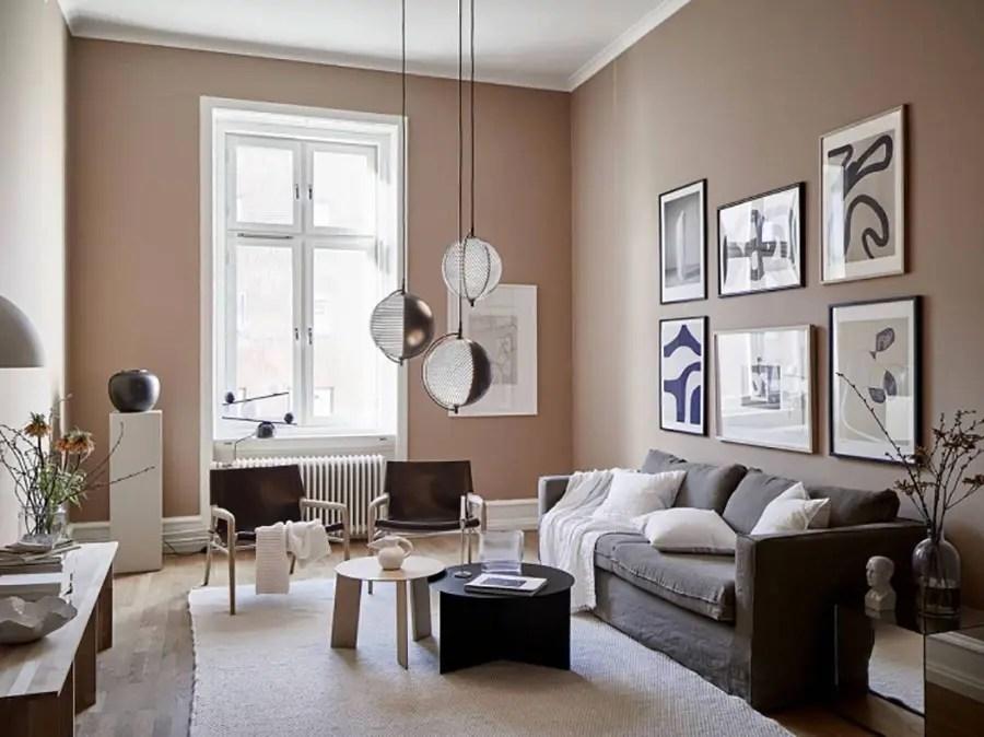 Immagine di pareti color sabbia nel soggiorno. Pareti Color Sabbia Per Interni Chic Mondodesign It