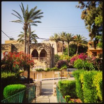 """The wonderful garden of the """"Our Lady of the Poorr"""" chapel"""