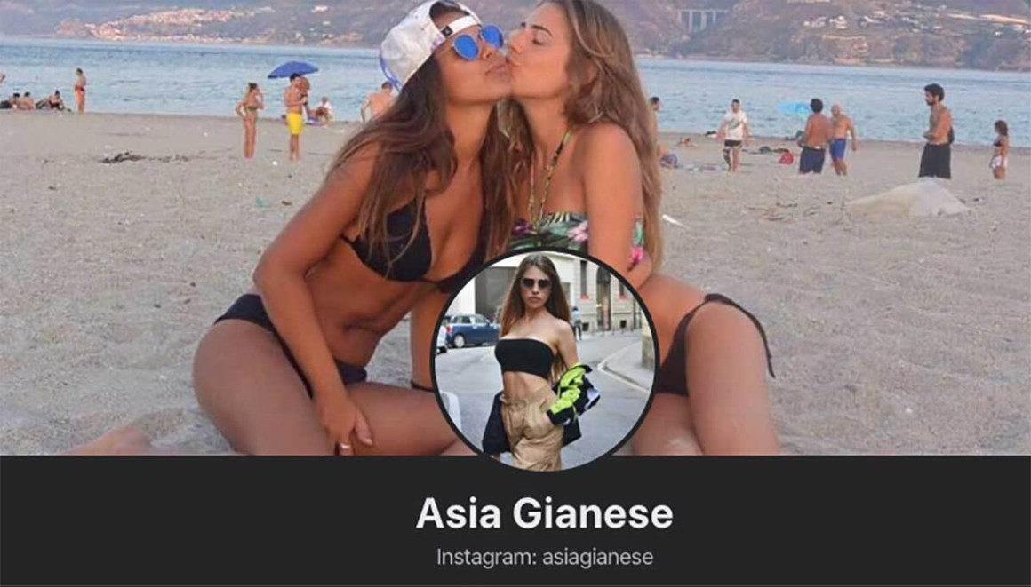 Il profilo Facebook di Asia Gianese