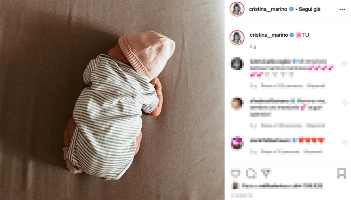 La prima foto di Nina Speranza, figlia di Cristina Marino e Luca Argentero