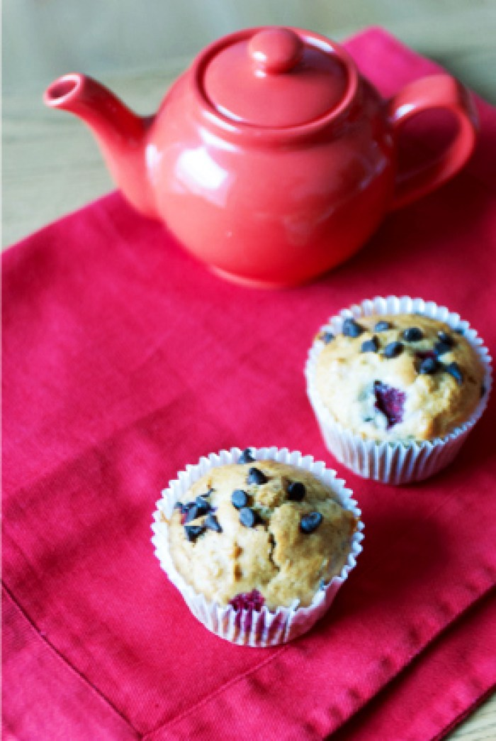 [Raspberry - Dark Chocolate Chip Muffins