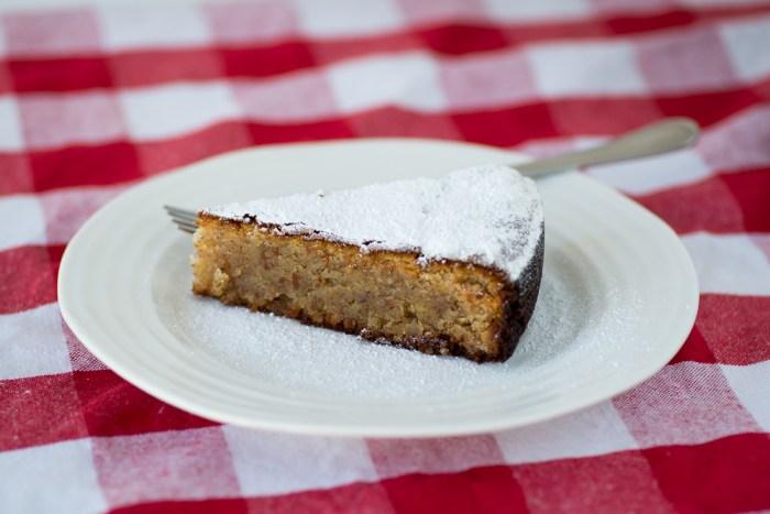 Neapolitan Caprese Cake made with ground almonds and gluten free