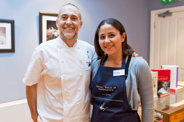 Michel Roux Jr Premier cooking experience in London