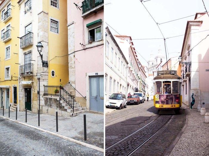 Tram 28 in Alfama, Lisbon