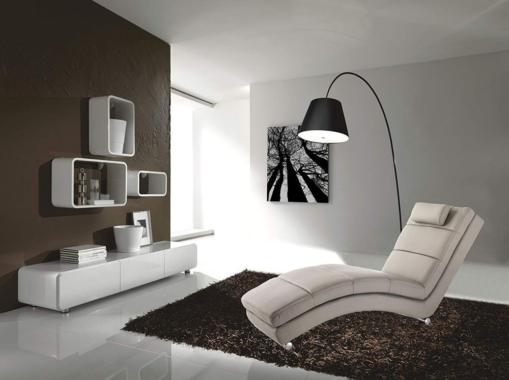 Design Chaise Longue Sofia Taupe Pelle