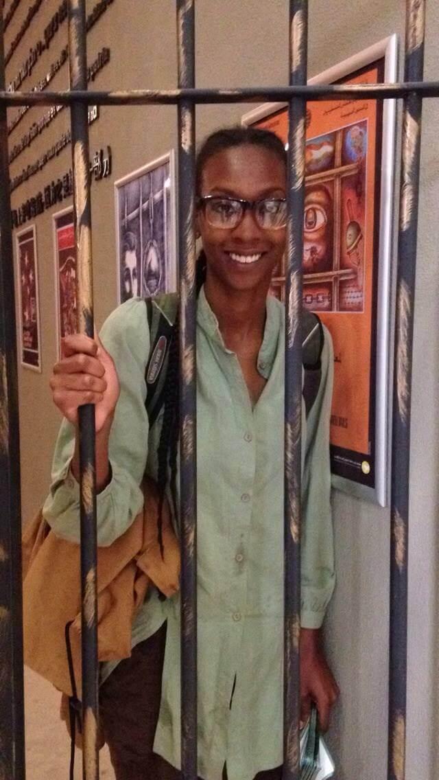 Kamilla Moore at the Al Quds University prisoner museum.