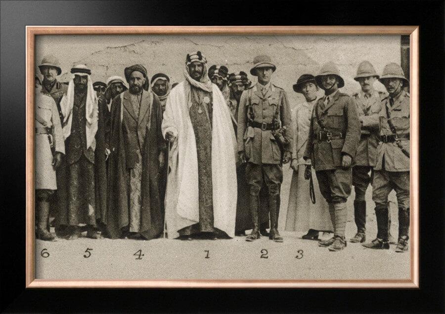 Abdel Aziz Ibn Saud with Sir Percy Cox