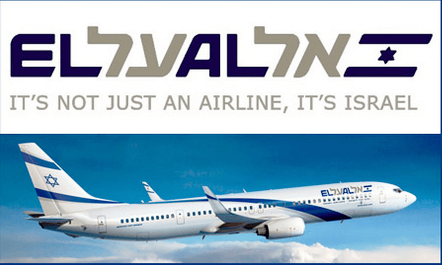 An advertisement for the Israeli airline El Al.