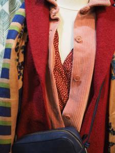 Manteau coat basique carmin