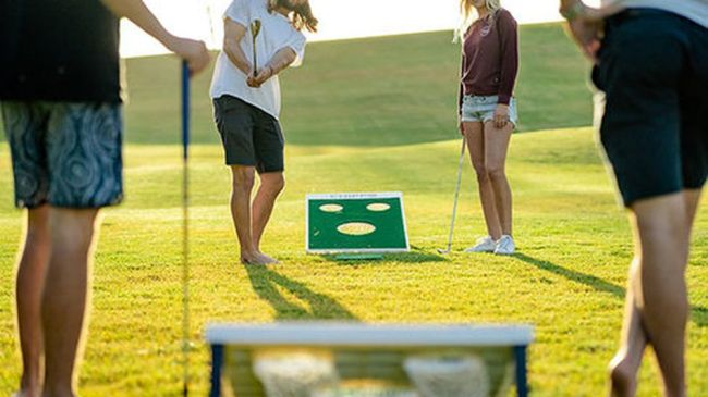 Missing the fairway? Try out this backyard golf game with a twist.