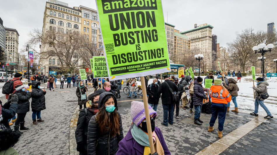 Union supporters want you to boycott Amazon for a week.