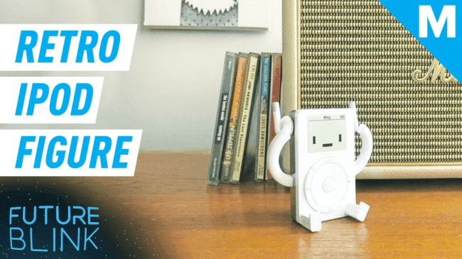 This cute retro toy figure pays homage to the original iPod — Future Blink
