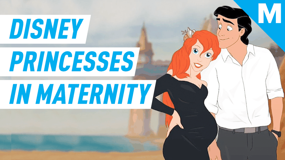 This artist re-imagined Disney Princesses in maternity