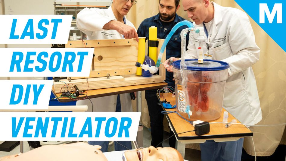 Engineers built a homemade ventilator that can serve as 'last resort' for people in need